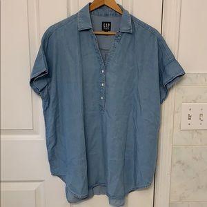 Gap denim oversized shirt size medium